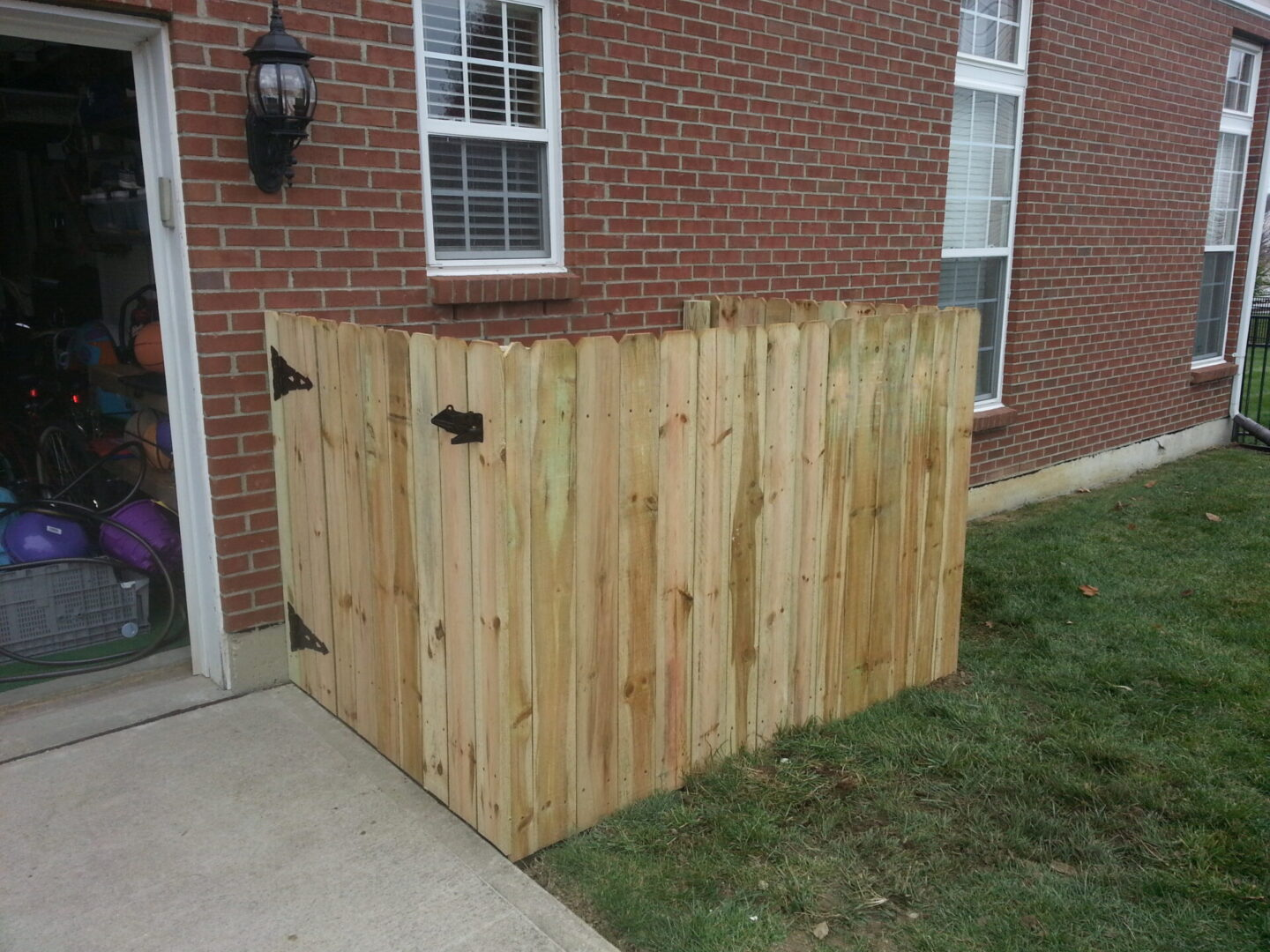 #2 Custom Wooden Fence installation {After}